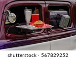 drive in movie theater with... | Shutterstock . vector #567829252