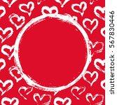 grunge circle  hearts... | Shutterstock .eps vector #567830446