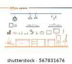 office element set line art... | Shutterstock .eps vector #567831676