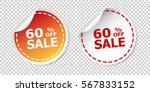 sale stickers 60  percent off.... | Shutterstock .eps vector #567833152