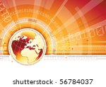 global communication   eps 10 | Shutterstock .eps vector #56784037