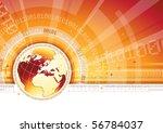 global communication   eps 10 | Shutterstock .eps vector #56784037