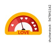 love meter or gauge icon for... | Shutterstock .eps vector #567841162