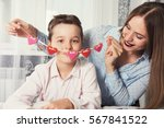 happy valentines day or mother... | Shutterstock . vector #567841522