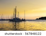 yachts in the mediterranean... | Shutterstock . vector #567848122