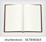 notebook  blank sketchbook mock ... | Shutterstock .eps vector #567848365