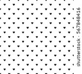 seamless pattern with hearts.... | Shutterstock .eps vector #567848416