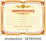 certificate template with... | Shutterstock .eps vector #567854242