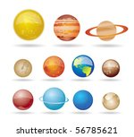 planets and sun from our solar... | Shutterstock .eps vector #56785621