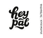 hey pal. hand lettering... | Shutterstock .eps vector #567864946