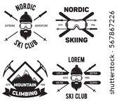 set of ski club. vintage... | Shutterstock .eps vector #567867226