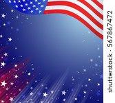 shiny american national flag... | Shutterstock .eps vector #567867472