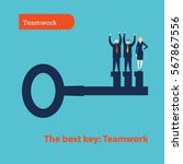 key to success. vector... | Shutterstock .eps vector #567867556