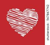 heart   pencil scribble sketch... | Shutterstock .eps vector #567867742