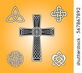 set of celtic knots. celtic... | Shutterstock .eps vector #567867892