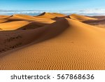 Sand Dunes In Erg Chigaga With...