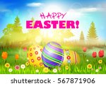 Easter. Happy Easter Backgroun...