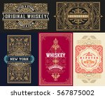 set whiskey labels and cards.... | Shutterstock .eps vector #567875002