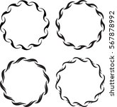 set of 4 round floral decors.... | Shutterstock .eps vector #567878992