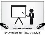 teacher or manager icon vector...   Shutterstock .eps vector #567895225