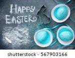 happy easter concept background   Shutterstock . vector #567903166