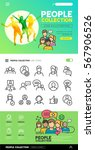 people icons and illustrations... | Shutterstock .eps vector #567906526