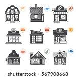 set of stylized illustrations... | Shutterstock .eps vector #567908668