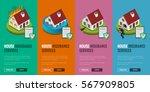 house insurance business...   Shutterstock .eps vector #567909805