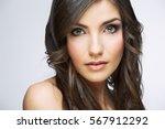 face portrait of beautiful... | Shutterstock . vector #567912292
