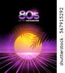 retro 1980's style neon digital ...   Shutterstock .eps vector #567915292