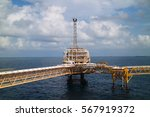 offshore construction platform... | Shutterstock . vector #567919372