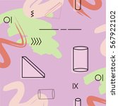 vector triangle and cylinder... | Shutterstock .eps vector #567922102