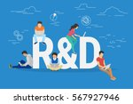 research and development... | Shutterstock .eps vector #567927946