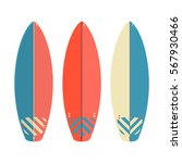 vector surfboard set  isolated... | Shutterstock .eps vector #567930466