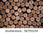 background made with wine corks ... | Shutterstock . vector #56793154