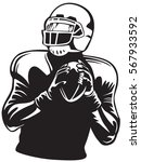 american football player.... | Shutterstock .eps vector #567933592
