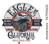 eagle head logo for t shirt ... | Shutterstock .eps vector #567935632