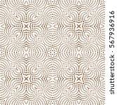 wavy dash line seamless pattern.... | Shutterstock .eps vector #567936916