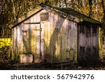 Dilapidated Wooden Shed During...