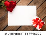 Red Roses  Gift Box And...