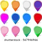 set of push pins in different... | Shutterstock .eps vector #567946966