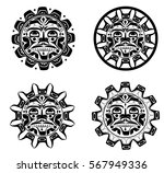 vector illustration of the sun...