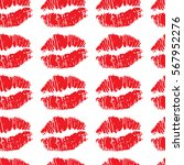 seamless sexy lips pattern. | Shutterstock .eps vector #567952276