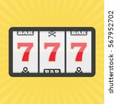 slot machine with three sevens... | Shutterstock .eps vector #567952702