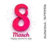 8 march women's day.... | Shutterstock .eps vector #567959506