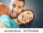 stunning young couple taking a... | Shutterstock . vector #567961846