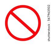 no sign. vector on white... | Shutterstock .eps vector #567963502