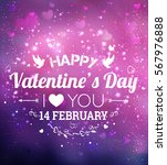 happy valentines day greeting... | Shutterstock .eps vector #567976888