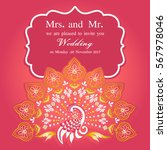 vintage invitation and wedding... | Shutterstock .eps vector #567978046