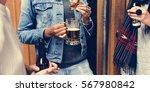 craft beer booze brew alcohol... | Shutterstock . vector #567980842